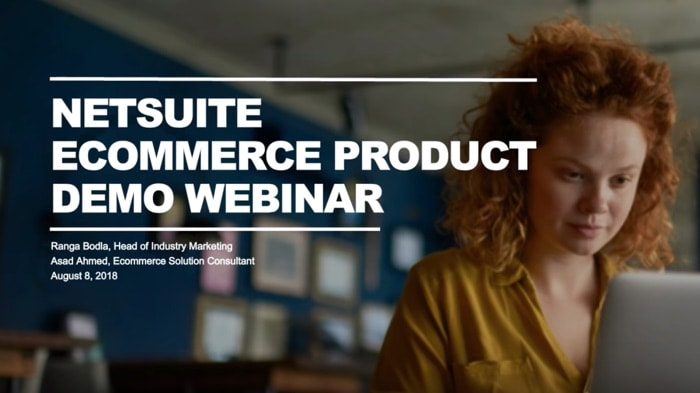 NetSuite eCommerce Product Demo